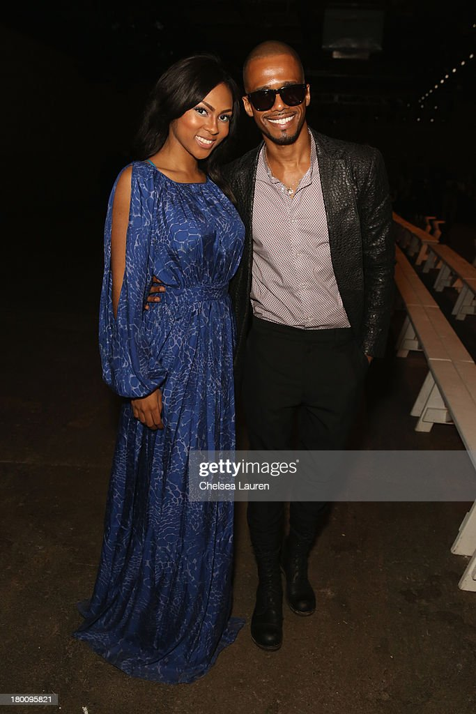 Actors Tashiana Washington and Eric West attend the Ricardo Seco fashion show during Mercedes-Benz Fashion Week Spring 2014 at Eyebeam Studio on September 8, 2013 in New York City.