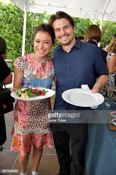 Actors Tatiana Maslany and Jason Ritter at the ICM Partners PreEmmy Brunch on September 17 2016 in Santa Monica California