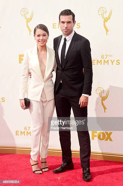 Actors Tatiana Maslany and Tom Cullen attend the 67th Annual Primetime Emmy Awards at Microsoft Theater on September 20 2015 in Los Angeles California