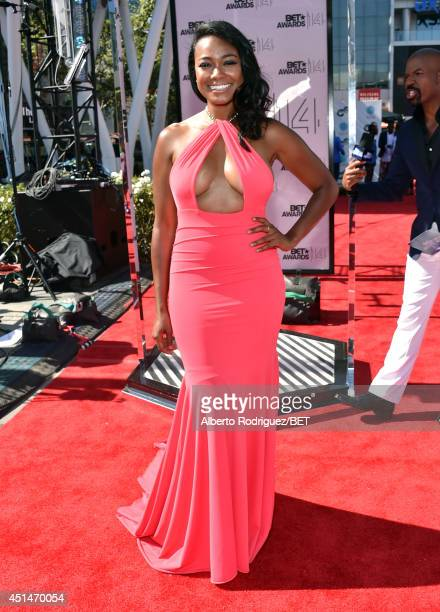Actors Tatyana Ali and Chris Spencer attend the Pantene Style Stage during BET AWARDS '14 at Nokia Theatre LA LIVE on June 29 2014 in Los Angeles...