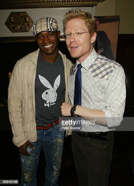 Actors Taye Diggs and Anthony Rapp attend Gotham magazine party to celebrate the October men's fashion issue on October 3 2005 in New York City