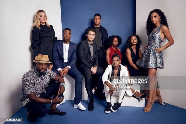 Actors Taye Diggs Monet Mazur Daniel Ezra Cody Christian Michael Evans Behling BreZ Karimah Westbrook Greta Onieogou and Samantha Logan of CW's 'All...