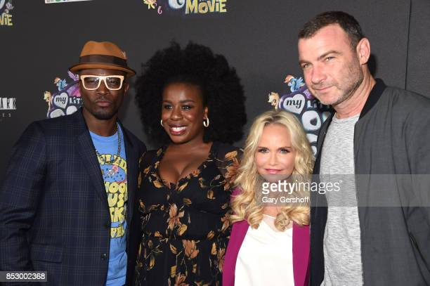 Actors Taye Diggs Uzo Aduba Kristin Chenoweth and Liev Schreiber attend 'My Little Pony The Movie' New York screening at AMC Lincoln Square Theater...