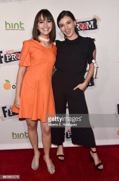Actors Taylor Blackwell and Rebecca Black attends the premiere Of Orchard And Fine Brothers Entertainment's 'F*% The Prom' at ArcLight Hollywood on...