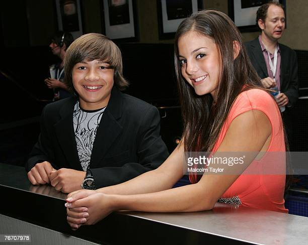 Actors Taylor Gray and Jessica Steinbaum attend the The Take world premiere during the Toronto International Film Festival 2007 held at Varsity 8 on...