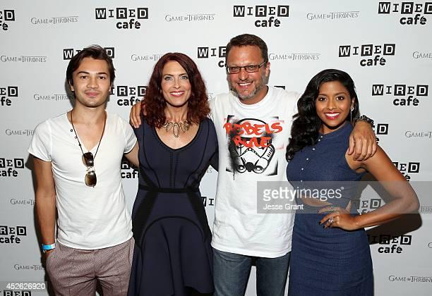 Actors Taylor Gray Vanessa Marshall Steve Bloom and Tiya Sircar attend day 1 of the WIRED Cafe @ Comic Con at Omni Hotel on July 24 2014 in San Diego...
