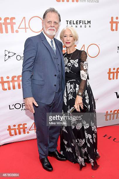 Actors Taylor Hackford and Helen Mirren attend the Eye in the Sky premiere during the 2015 Toronto International Film Festival at Roy Thomson Hall on...