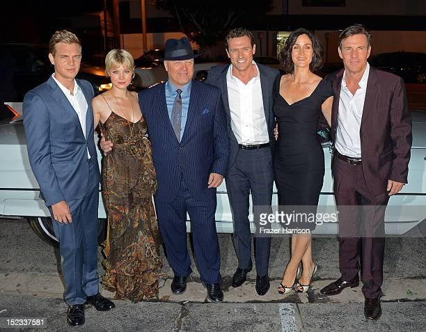 Actors Taylor Handley Sarah Jones Michael Chiklis Dennis Quaid CarrieAnne Moss and Jason O'Mara arrive at CBS 2012 fall premiere party held at...