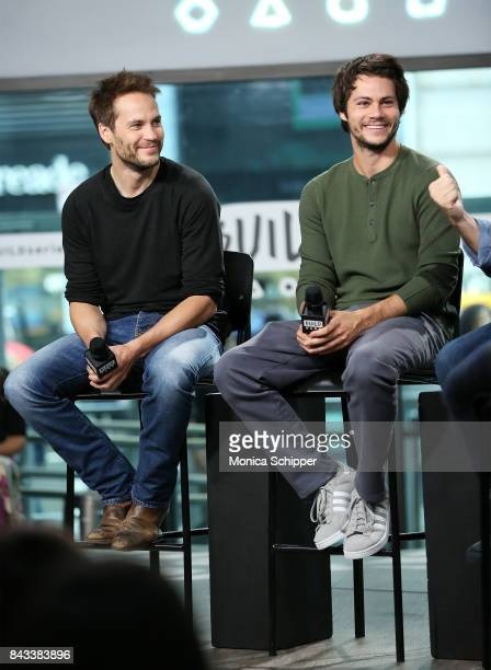 Actors Taylor Kitsch and Dylan O'Brien discuss their new movie 'American Assassin' at Build Studio on September 6 2017 in New York City