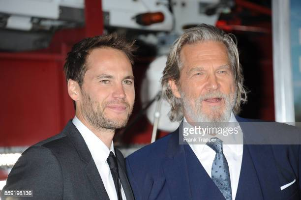 Actors Taylor Kitsch and Jeff Bridgesi attend the premiere of Columbia Pictures' 'Only The Brave' at the Regency Village Theatre on October 8 2017 in...