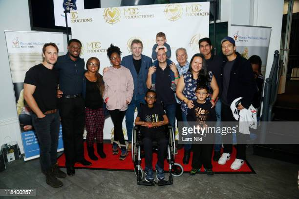 Actors Taylor Kitsch, Liam Neeson and Sebastian Stan attend the MDC Productions' 3rd Annual Face Off to Fight Cancer at the Sky Rink at Chelsea Piers...