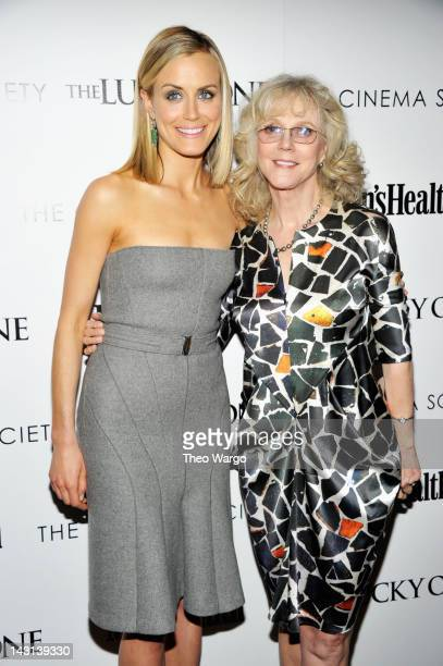 """Actors Taylor Schilling and Blythe Danner attend The Cinema Society & Men's Health screening of """"The Lucky One"""" at the Crosby Street Hotel on April..."""
