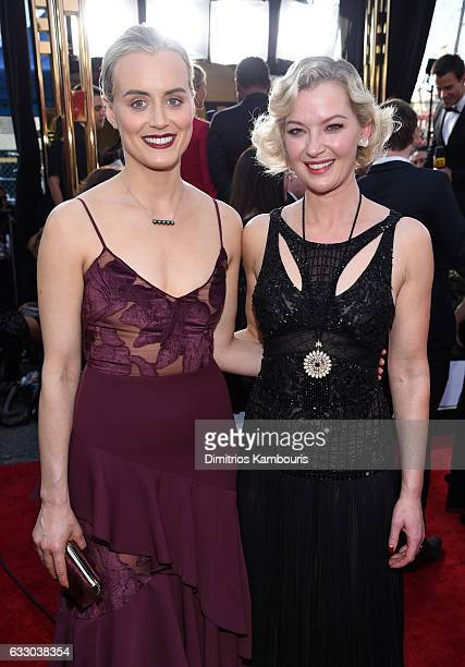 Actors Taylor Schilling and Gretchen Mol attend The 23rd Annual Screen Actors Guild Awards at The Shrine Auditorium on January 29 2017 in Los Angeles...