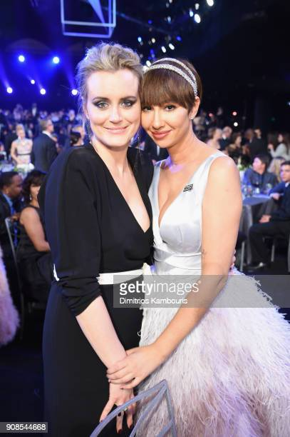 Actors Taylor Schilling and Jackie Cruz attend the 24th Annual Screen Actors Guild Awards at The Shrine Auditorium on January 21 2018 in Los Angeles...