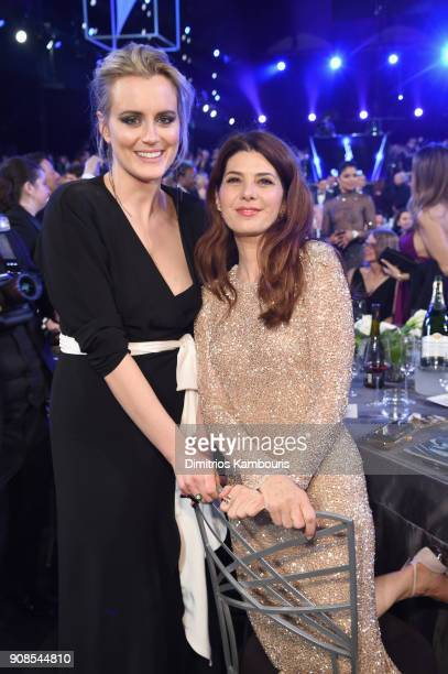 Actors Taylor Schilling and Marisa Tomei attend the 24th Annual Screen Actors Guild Awards at The Shrine Auditorium on January 21 2018 in Los Angeles...