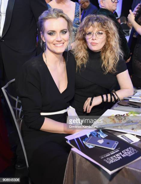 Actors Taylor Schilling and Natasha Lyonne attend the 24th Annual Screen Actors Guild Awards at The Shrine Auditorium on January 21 2018 in Los...