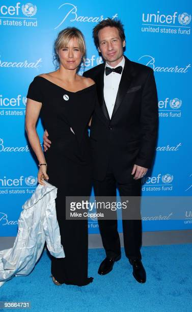 Actors Tea Leoni and David Duchovny attends the 2009 UNICEF Snowflake Ball at Cipriani 42nd Street on December 2 2009 in New York City