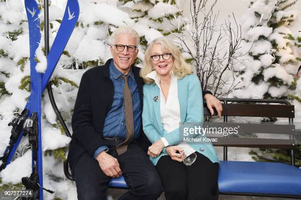 Actors Ted Danson and Blythe Danner attend as Grey Goose Blue Door hosts the casts of gamechanging films during the Sundance Film Festival at The...