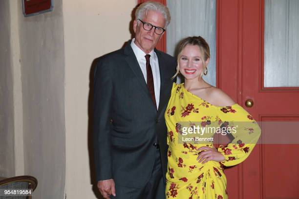 Actors Ted Danson and Kristen Bell attend NBC's 'The Good Place' FYC Screening And QA at Universal Studios Backlot on May 4 2018 in Universal City...