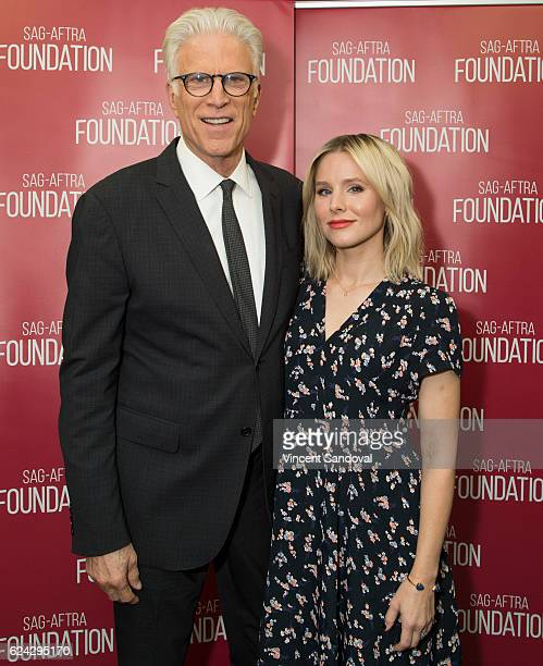 Actors Ted Danson and Kristen Bell attend SAGAFTRA Foundation's Conversations with 'The Good Place' at SAGAFTRA Foundation Screening Room on November...