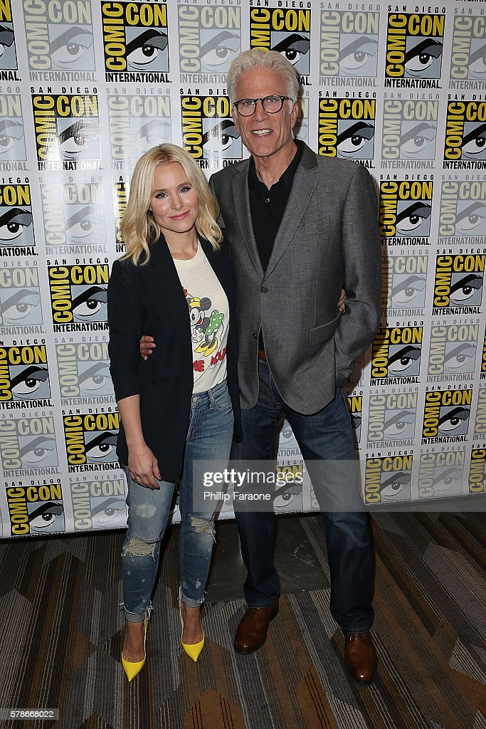 Actors Ted Danson and Kristen Bell of NBC's 'The Good Place' attends Comic-Con International 2016 on July 21, 2016 in San Diego, California.