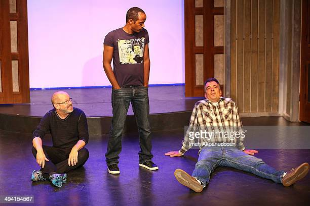 Actors Ted Michaels, Jordan Black and Kevin Ruf perform onstage at The Groundlings Theatre's celebration of their 40th Anniversary with '2000's...