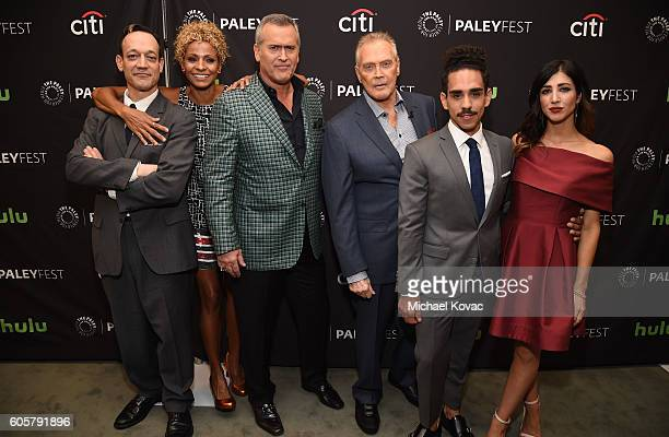 Actors Ted Raimi Michelle Hurd Bruce Campbell Lee Majors Ray Santiago and Dana DeLorenzo arrive at The Paley Center for Media's 10th Annual PaleyFest...