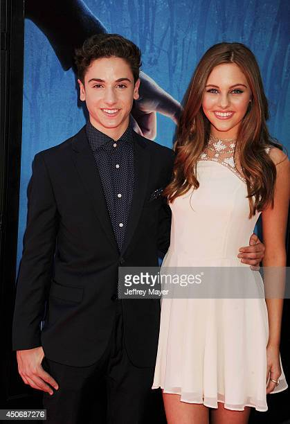 Actors Teo Halm and Ella Wahlestedt attend the premiere of 'Earth to Echo' during the 2014 Los Angeles Film Festival at Regal Cinemas LA Live on June...