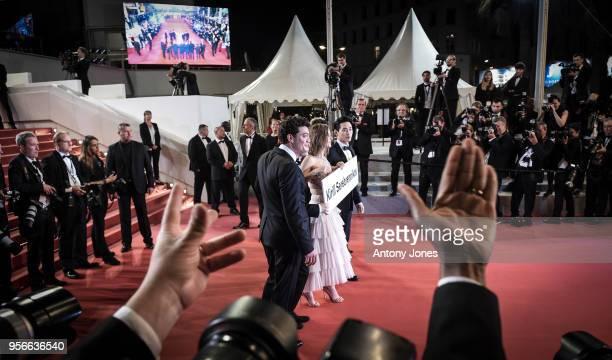 Actors Teo Yoo Irina Starshenbaum Roman Bilyk cinematographer Vladislav Opelyants producers Ilya Stewart and CharlesEvrard Tchekhoff attend the...