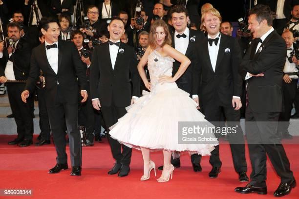 Actors Teo Yoo Roman Bilyk Irina Starshenbaum producers CharlesEvrard Tchekhoff Ilya Stewart and cinematographer Vladislav Opelyants attend the...