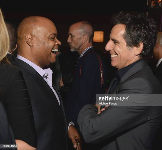 Actors Terence Bernie Hines and Ben Stiller attend the The Secret Life Of Walter Mitty Gala After Party during AFI FEST 2013 presented by Audi at...
