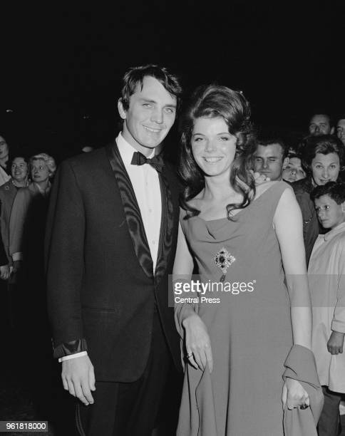 Actors Terence Stamp and Samantha Eggar at the premiere of the film 'Billy Budd' at the Leicester Square Theatre London 21st September 1962 Stamp...