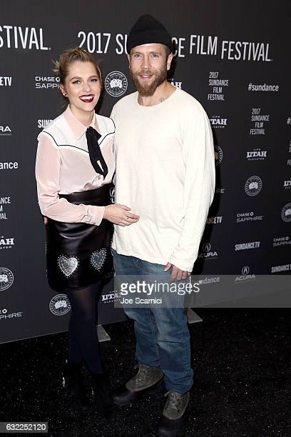 Actors Teresa Palmer and Mark Webber attend the 'Berlin Syndrome' premiere during day 2 of the 2017 Sundance Film Festival at The Marc Theatre on...
