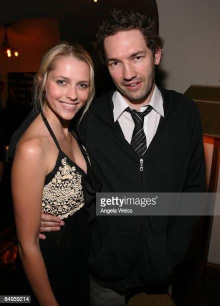 Actors Teresa Palmer and Nash Edgerton attend the Australian Academy Award Nominee and the Australians in Film Heath Ledger Scholarship reception...