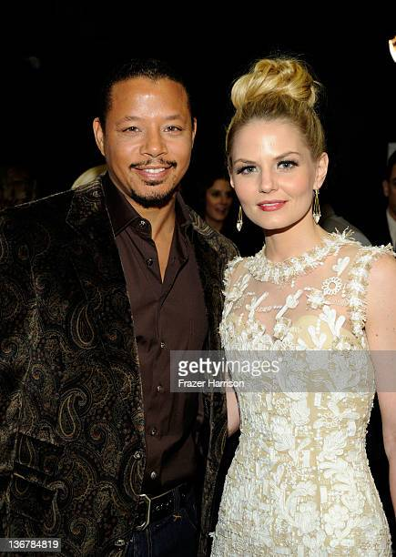 Actors Terrence Howard and Jennifer Morrison attend the 2012 People's Choice Awards at Nokia Theatre LA Live on January 11 2012 in Los Angeles...