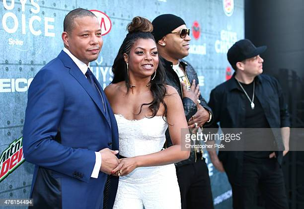 Actors Terrence Howard Taraji P Henson and LL Cool J attend Spike TV's Guys Choice 2015 at Sony Pictures Studios on June 6 2015 in Culver City...