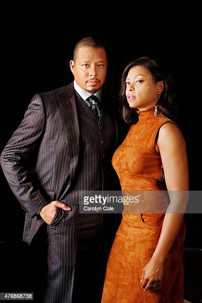 Actors Terrence Howard, Taraji P. Henson from Fox's hit show 'Empire' are photographed for Los Angeles Times on May 11, 2015 in New York City....
