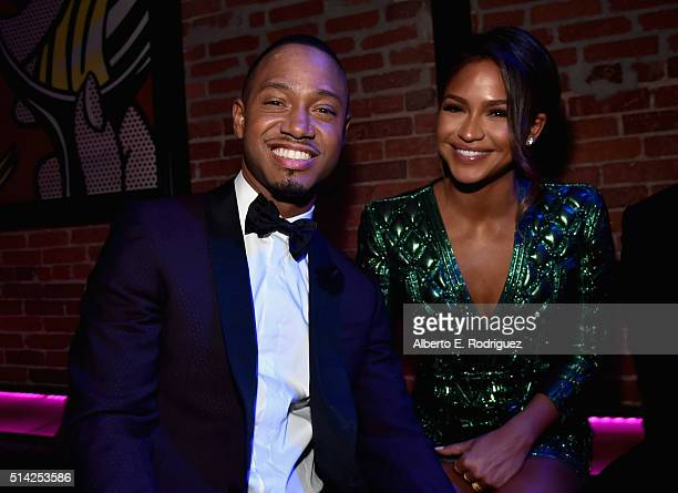 Actors Terrence Jenkins and Cassie Ventura attend the after party for the premiere of Lionsgate's 'The Perfect Match' at ArcLight Hollywood on March...