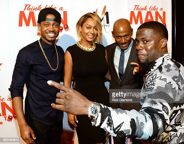 Actors Terrence JenkinsLaLa Anthony Romany Malco and Kevin Hart attend Sony Pictures' 'THINK LIKE MAN TOO' Atlanta Red Carpet Screening With Kevin...