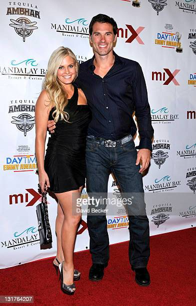 Actors Terri Colombino and Austin Peck arrive at the official pre-party for the 2010 Daytime Entertainment Emmy Awards at Mix at THEhotel at Mandalay...