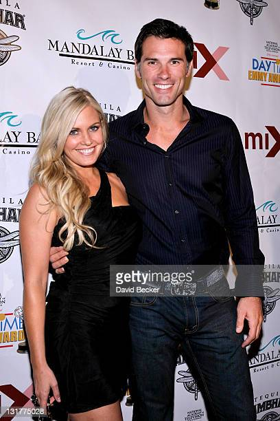 Actors Terri Colombino and Austin Peck arrive Daytime Entertainment Emmy Awards at Mix at THEhotel at Mandalay Bay on June 26, 2010 in Las Vegas,...