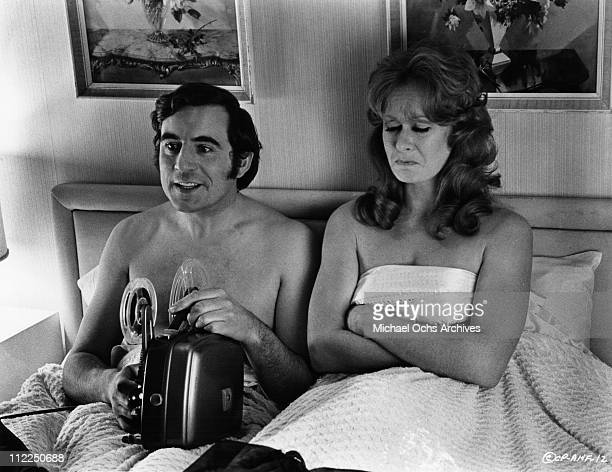 Actors Terry Jones and Carol Cleveland in a scene from the movie 'And Now For Something Completely Different' in 1971 in England
