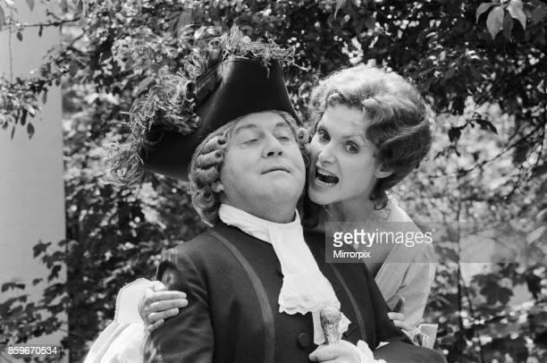 Actors Terry Scott and Madeline Smith who star in the new play 'the School for Wives at the Yvonne Arnaud Theatre 29th May 1984