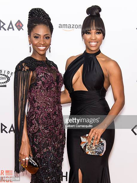 Actors Teyonah Parris and Michelle Mitchenor attend the 'CHIRAQ' New York Premiere at Ziegfeld Theater on December 1 2015 in New York City