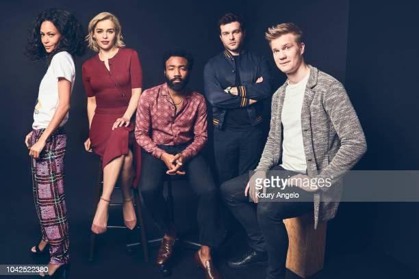 Actors Thandie Newton, Emilia Clarke, Donald Glover, Alden Ehrenreich and Joonas Suotamo are photographed for People Magazine on March 21, 2018 in...