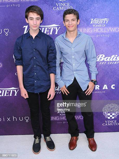 Actors Theo Taplitz and Michael Barbieri attend Variety's Power of Young Hollywood event presented by Pixhug with platinum sponsor Vince Camuto at...