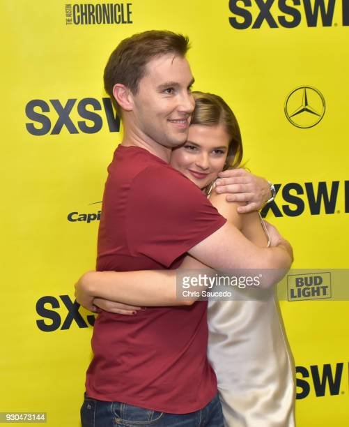 Actors Theodore Pellerin and Stefanie Scott attend the premiere of 'First Light' during SXSW at Alamo Lamar on March 10 2018 in Austin Texas