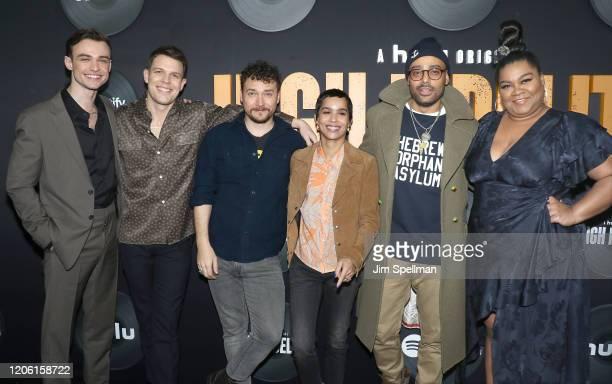 "Actors Thomas Doherty, Jake Lacy, David H. Holmes, Zoe Kravitz, Rainbow Sun Francks and Da'Vine Joy Randolph attend the Hulu's ""High Fidelity"" New..."
