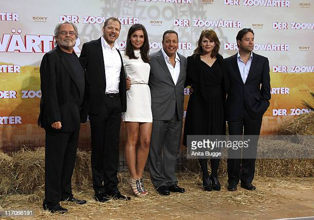 Actors Thomas Fritsch Mario Barth Nadine Warmuth Kevin James Anna Loos and JanJosef Liefers attend the Premiere of 'Zookeeper' at CineStar movie...