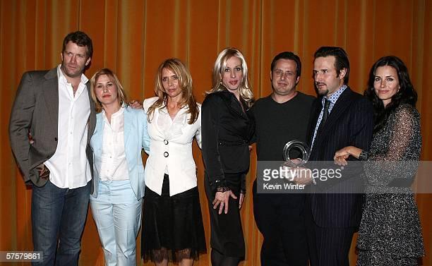 Actors Thomas Jane Patricia Arquette Roseanna Arquette Alexis Arquette Richmond Arquette David Arquette and Courteney Cox Arquette attend the AFI...